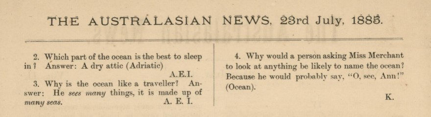Most jokes were worthy of a keel-hauling
