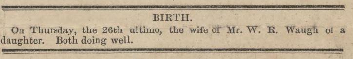 Birth notice in the Mercury