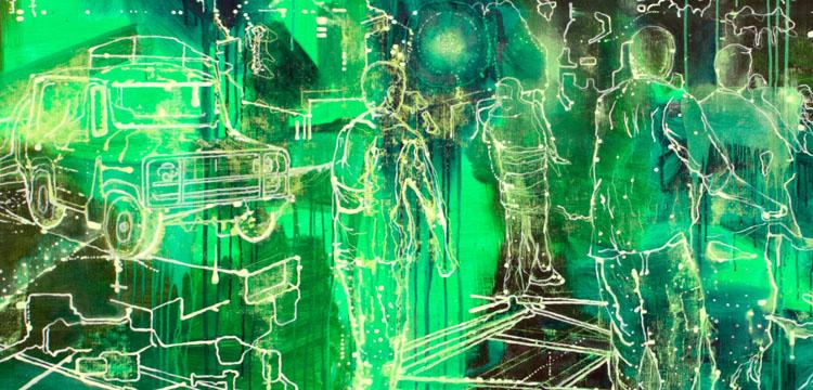 digital rendering of street scene