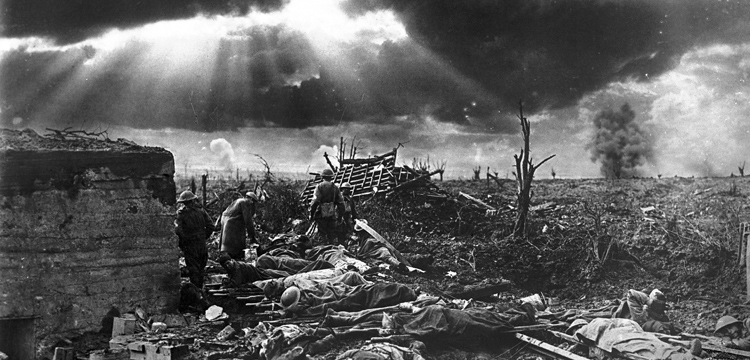 Photograph by Frank Hurley of the Battle of Passchendaele