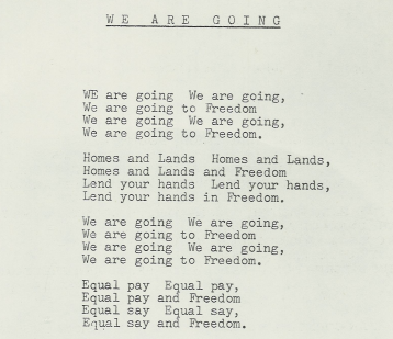 Extract of poem We Are Going (to freedom) by Gary Shearston