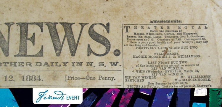 Newspaper cutting from the Sharp Collection of theatre ephemera