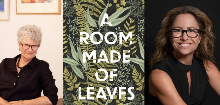 Kate Grenville, cover of A Room Made of Leaves and Professor Clare Wright OAM