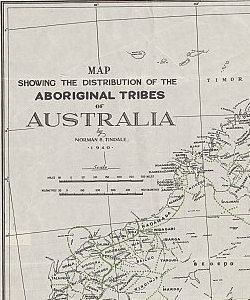 Map showing the distribution of the Aboriginal tribes of Australia