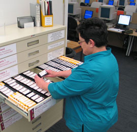 Accessing microfilm
