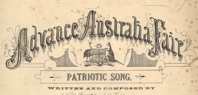 Cover of Advance Australia Fair sheet music from approximately 1879