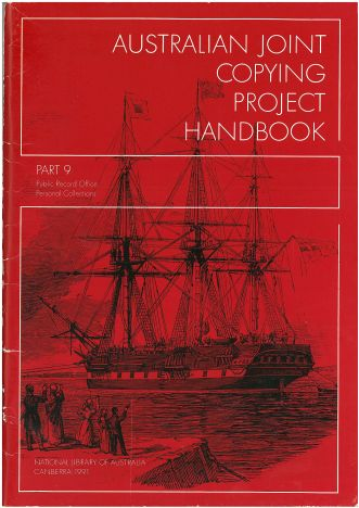 Australian Joint Copying Project Handbook 9
