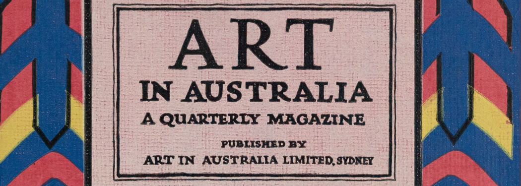 Cover of Art in Australia