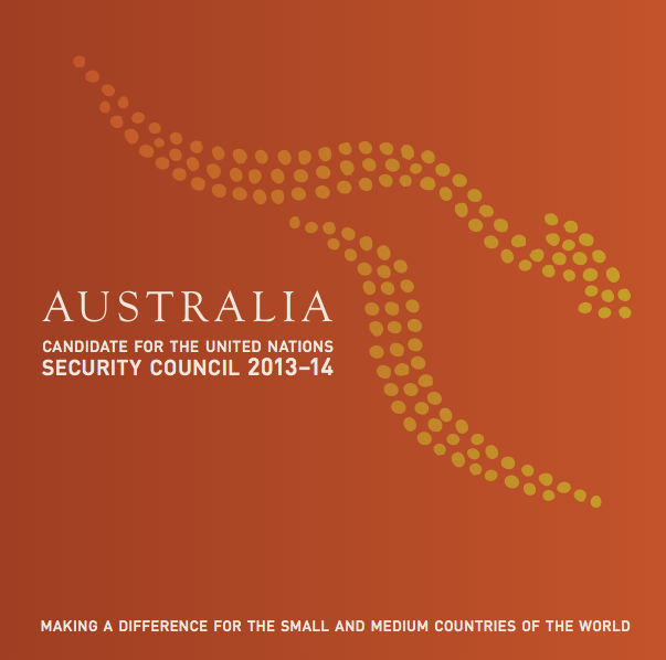 Front cover image of Australia: candidate for the United Nations Security Council 2013-14