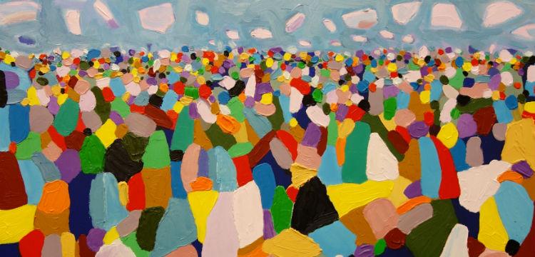 Stephen Baxter, The Australian Crowd, 2014 (detail)