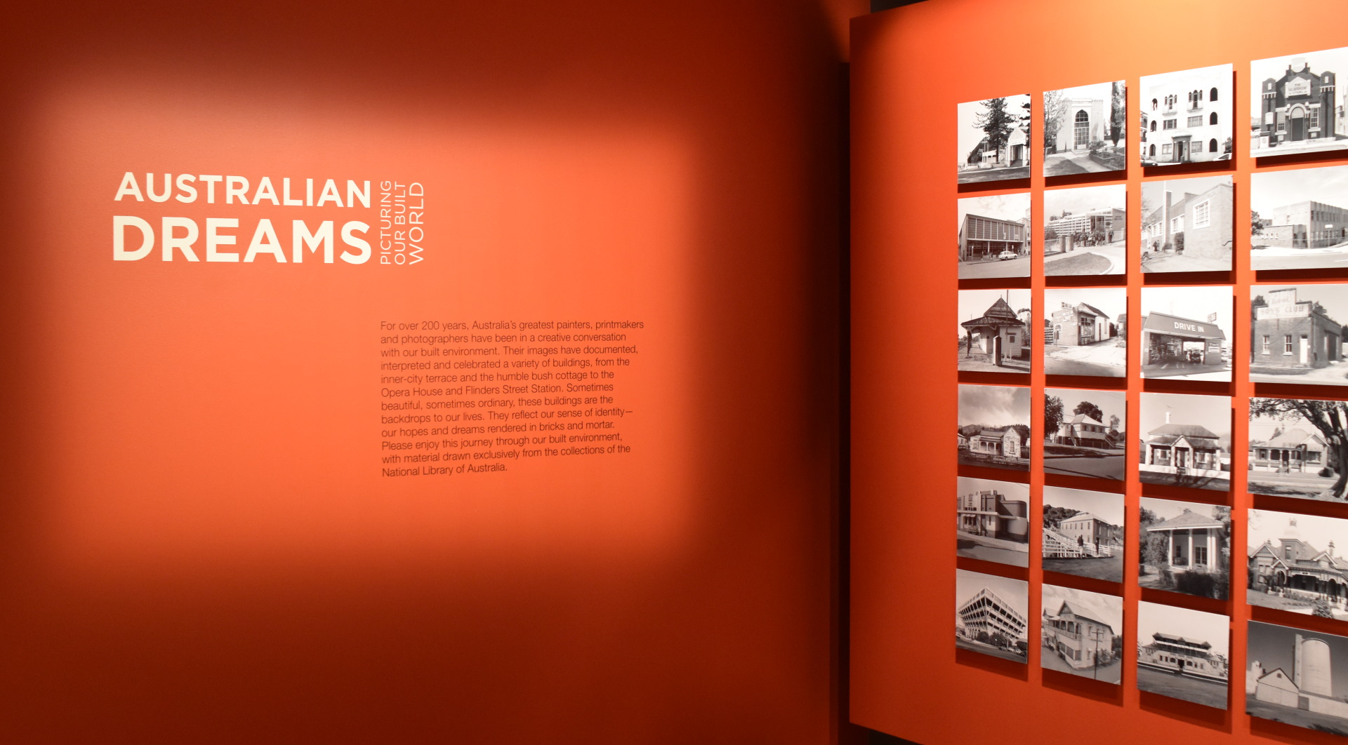 The opening wall of the Australian Dreams exhibition