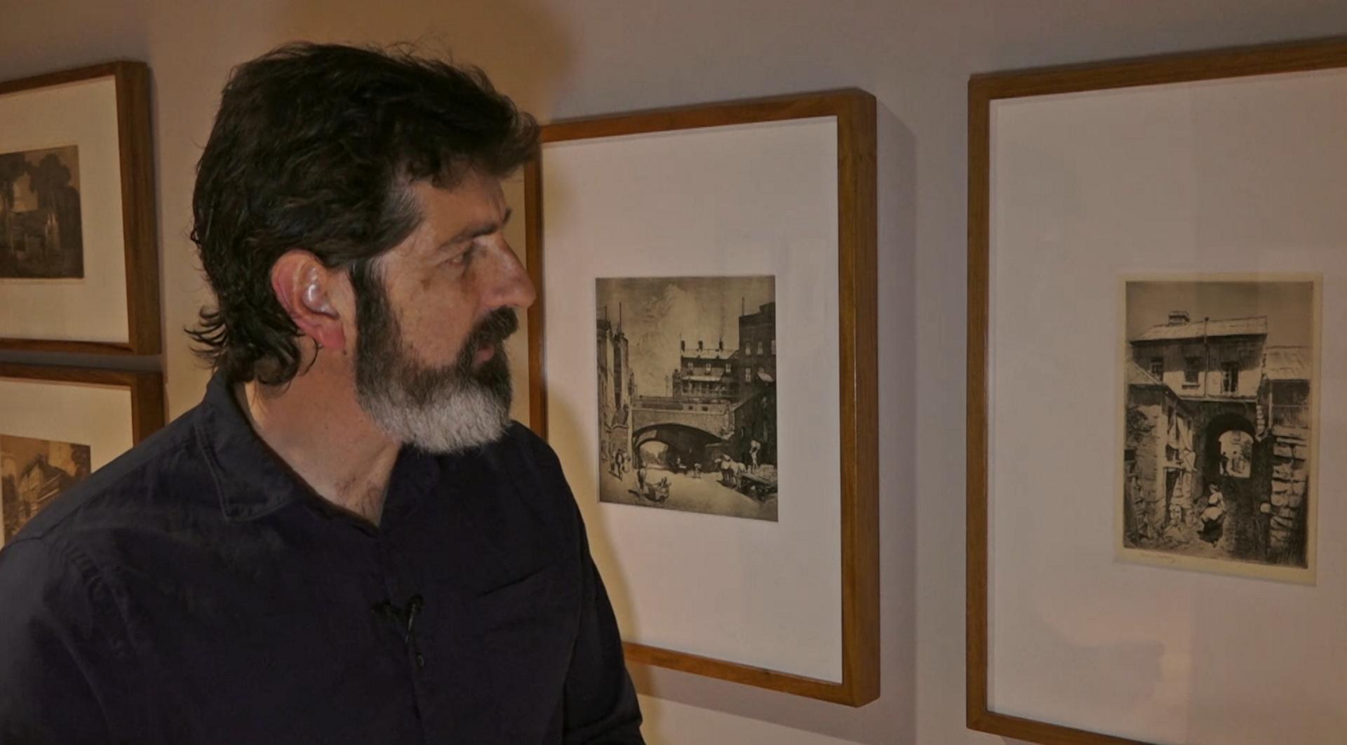 Matthew Jones in the Exhibition Gallery