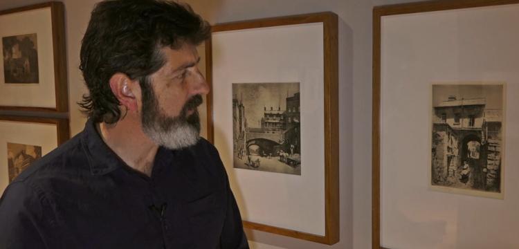 Curator Matthew Jones in the Exhibition Gallery