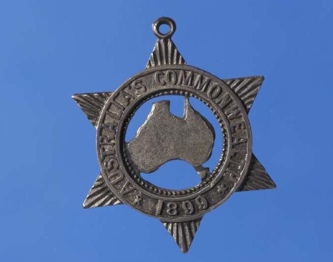 Badge inscribed Australia's Commonwealth, 1899