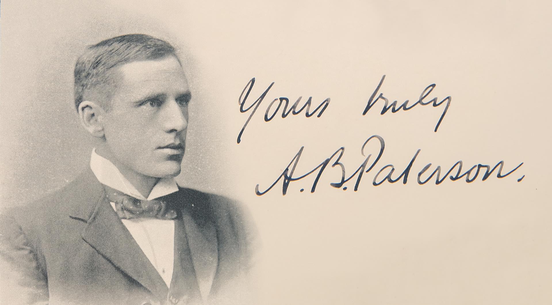 Banjo Paterson portrait and signature