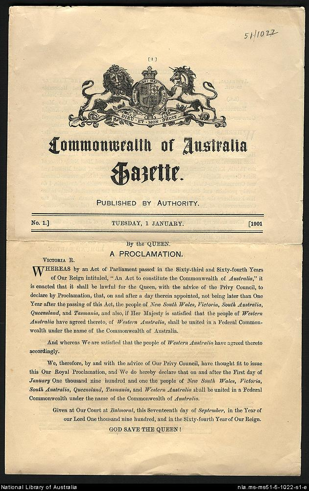 Papers relating to the Federation Campaign 1890-1901