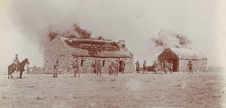 Burning Farm Houses (detail), c. 1902, nla.cat-vn3408903