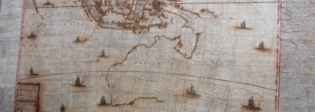 The Bleau Map - a rare 1663 map of Australia