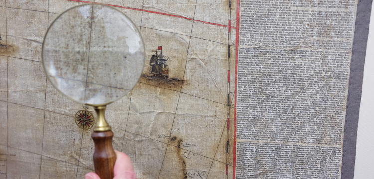 Detail of the restored Blaeu Map