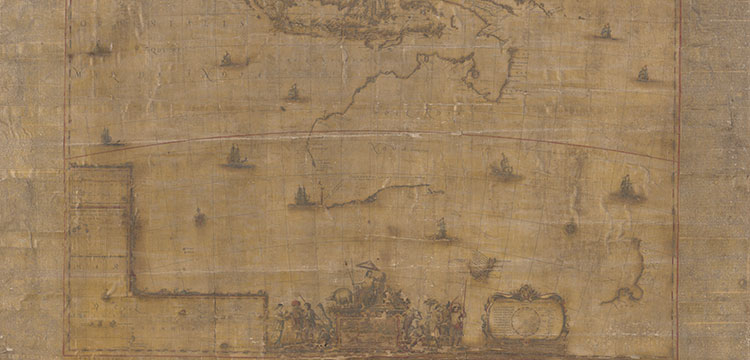 Large scale wall-map of Tasman's voyages of 1642-43 and 1644