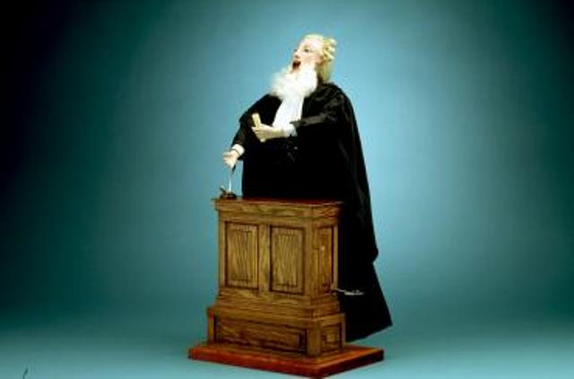 Image of muscial automaton in the sape of a lawyer