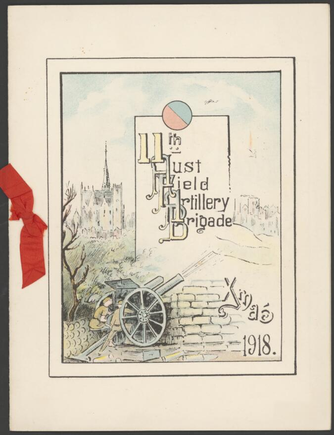 Card from the 11th Australian Field Artillery