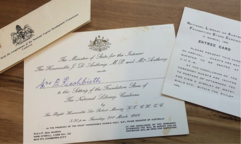 Invitation and Entrée Card, Foundation Stone Ceremony