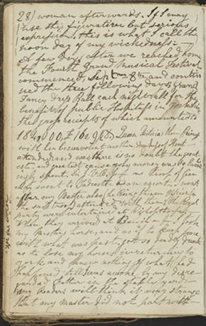 Page from Ward's diary