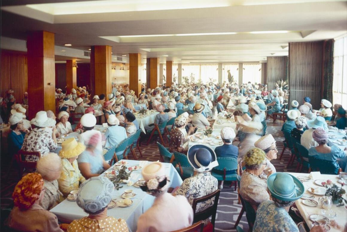 Large group of women in hats
