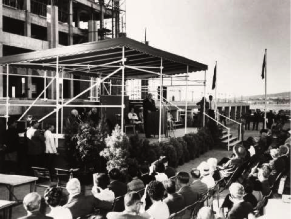 Sir Robert Menzies speaking at the laying of the Foundation Stone, 31 March, 1966