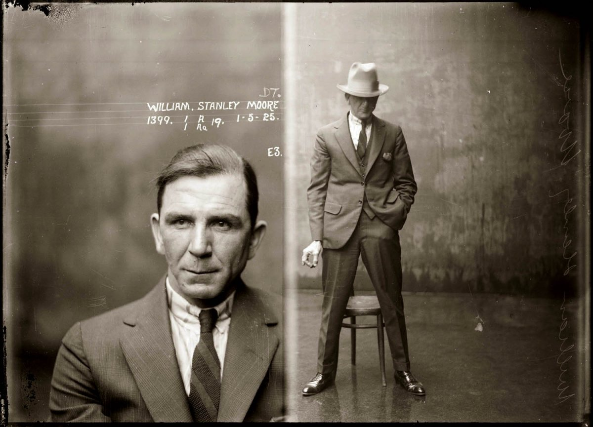 20th century photograph of prisoner William Stanley Moore