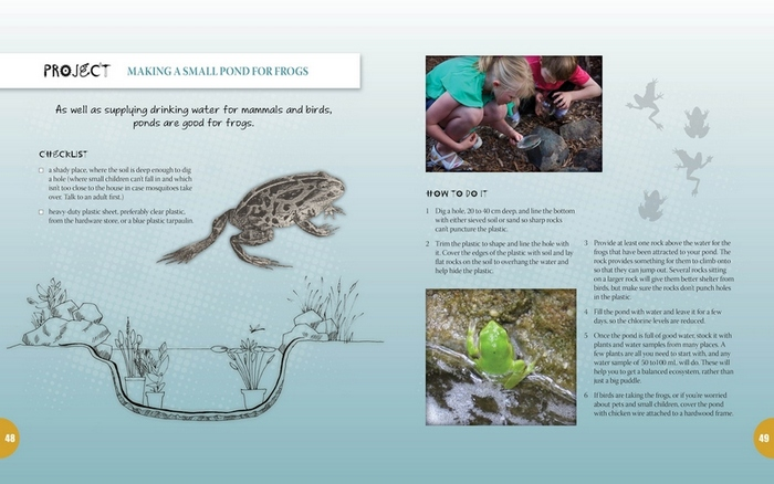 Double page spread from Australian Backyard Naturalist