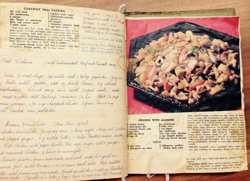 The rise of the cookbook national library of australia open book with handwritten recipes forumfinder Choice Image
