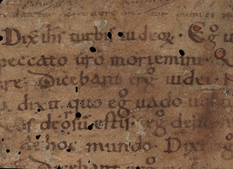 detail of and old manuscript