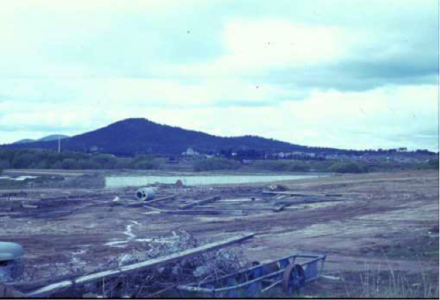 National Library site being shaped, Canberra.