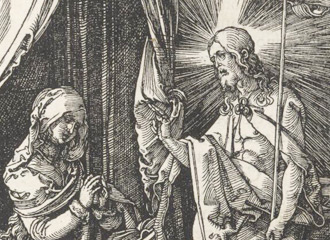 illustration of jesus and mary