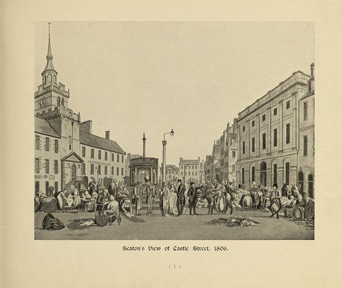 Seaton's view of Castle Street, Aberdeen in 1806