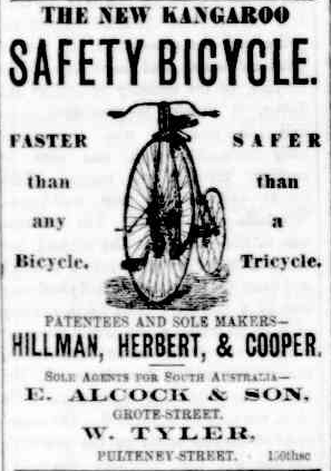 Advertisement for a bicycle