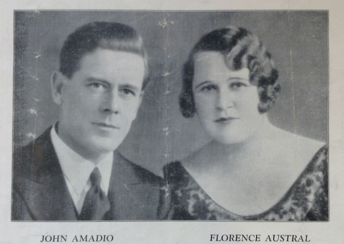Austral and Amadio, Perth 1930