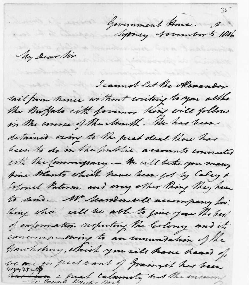 Bligh letter