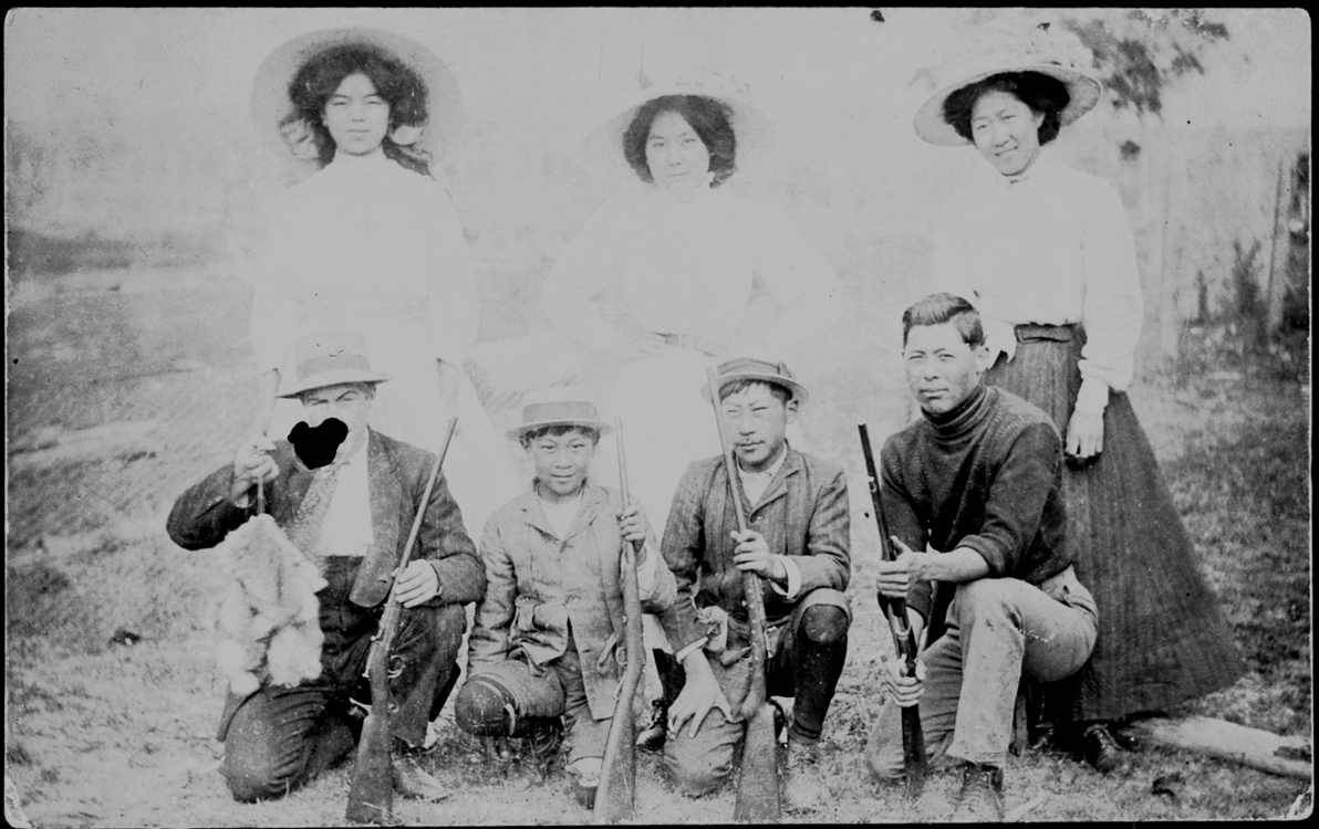 Group portrait of the Nomchong family, Braidwood NSW 1902