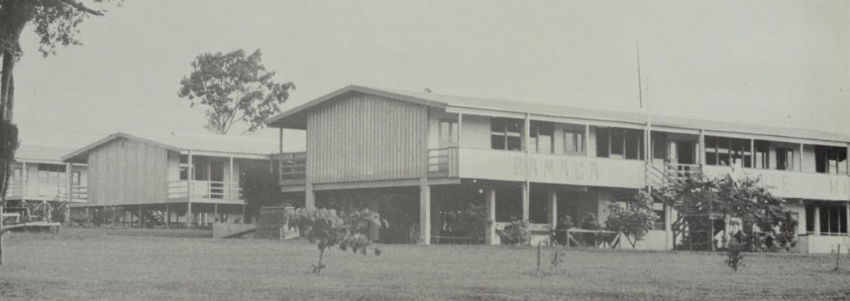 Bamaga State High School campus in 1976