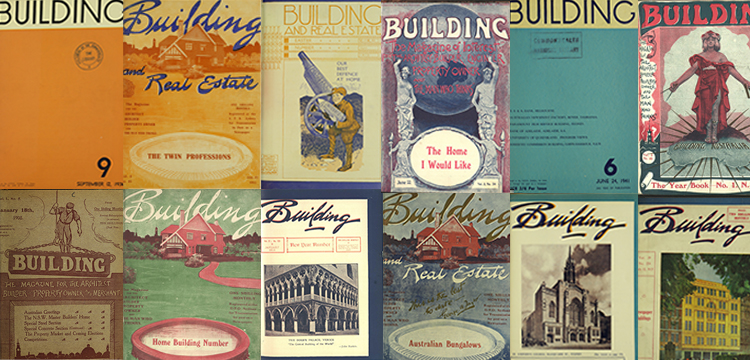 Composite image of various Building magazine covers