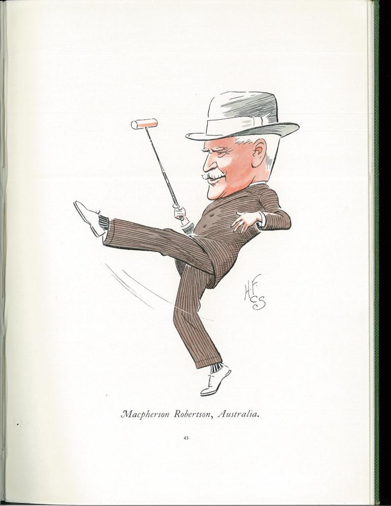 Caricature of Macpherson Robertson