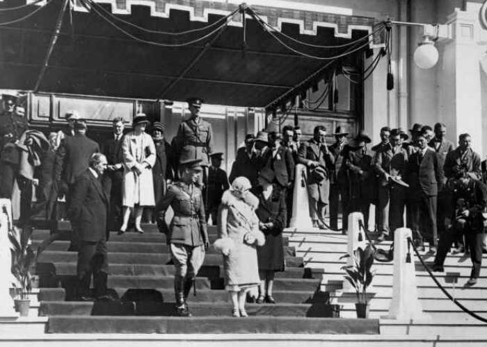 Duke and Duchess of York at opening of Parliament House, Canberra, 9 May 1927, Courtesy of ACT Heritage Library, (ACT Heritage Library Ref. 000277)