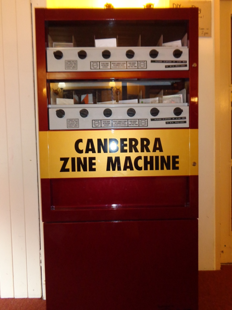 CZE zine vending machine