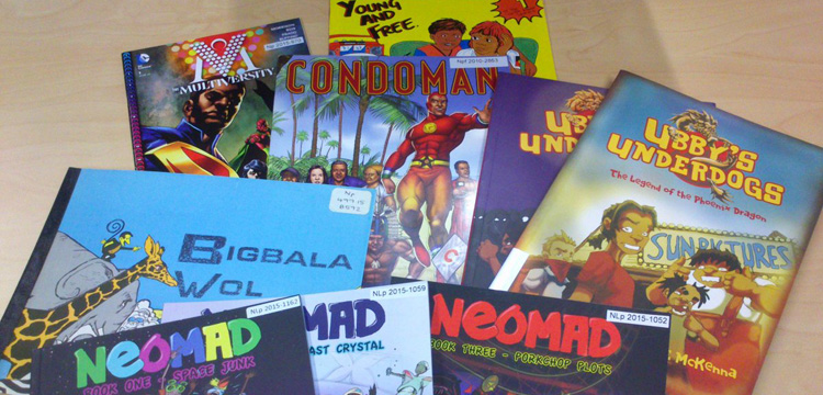 Image of Australian comic titles from the collection