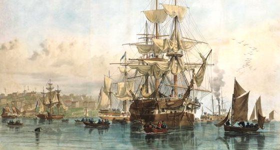 Emigrants leaving the ship Sydney Cove