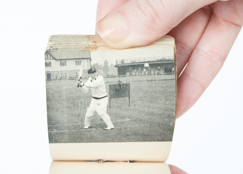 Don Bradman in Flicker no. 1 : on drive and off drive