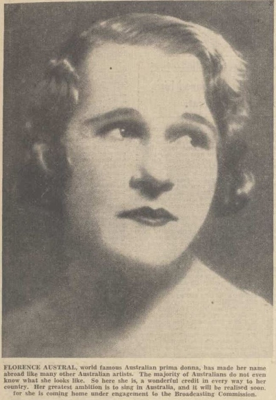 Florence Austral, 1933